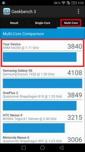 Huawei P9 lite GEEK Bench 3-3