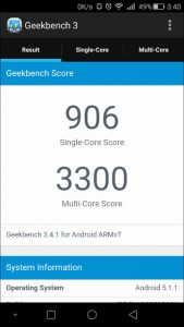 honor6 Plus GEEK Bench 3-1