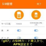 DSDSに対応する「g07」のSIMカード挿入から、APN設定まで